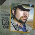 TOBY KEITH AUTOGRAPHED CD WHITE TRASH WITH MONEY SIGNED
