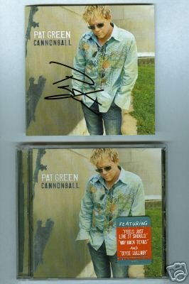 Pat Green Autographed Cannonball CD NEW Signed