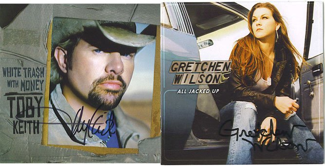 Toby Keith and Gretchen Wilson Autographed CD'S Signed