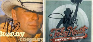 Kenny Chesney and Toby Keith Autographed CD's Signed