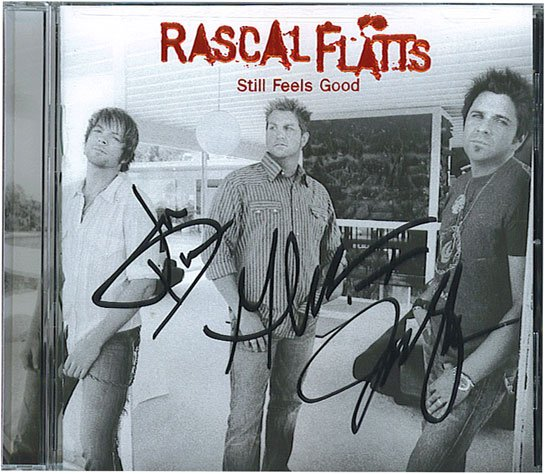 AUTOGRAPHED Rascal Flatts Still Feels Good CD Signed