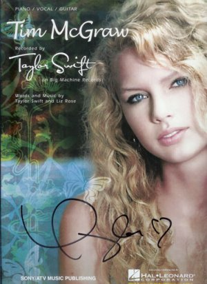 Autographed TAYLOR SWIFT Songbook Tim McGraw Hand-Signed