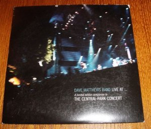 RARE Dave Matthews Band Central Park Bonus CD....Out of Print