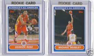 RARE 2007 Topps McDonald's All American Basketball Complete Set. Beasley, Rose, Mayo RC's