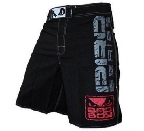 Black MMA Fighting Shorts Grappling Kick Boxing Shorts