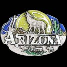 Pewter Belt Buckle - Arizona Howling Wolf