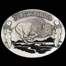 Pewter Belt Buckle - Yellowstone Bison