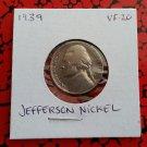 1939 VF-20 Nickel Jefferson
