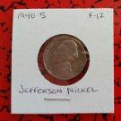 1940 S F-12 Nickel Jefferson