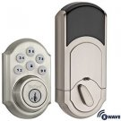 Kwikset 910 Z-Wave SmartCode Electronic Deadbolt featuring SmartKey in Satin Nic