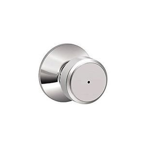 Schlage F40 BWE 625 Bowery Privacy Lock Knob, Bright Chrome