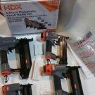 HDX Pneumatic Finishing Kit (4-Piece) Contractor Hardware DIY Staple Nail Gun