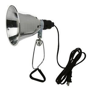 Woods 0160 18/2 SPT-2 Clamp Lamp Light w/ 5.5-Inch Reflector 60-Watt 6-Foot C...