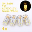 Weanas G4 Base 48 LED Warm White Light Bulb 3W AC DC 12V/10-20V Nondimmable