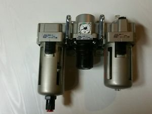 "SMC AC Series 3 Piece Filter/Regulator/Lubricator, 1/2"" NPT, 5 Micron, Float"