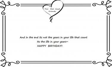Feel Good Birthday Quote#2