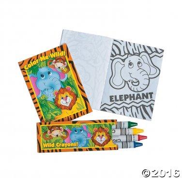 Mini Zoo Animal Coloring Set