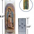 Religious Flameless Prayer Candle Devotional Candles with Moving Wick Flame