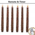 Country Primitive Home Decor primitive Flame LED Candles set of 6 W/Romte&timer