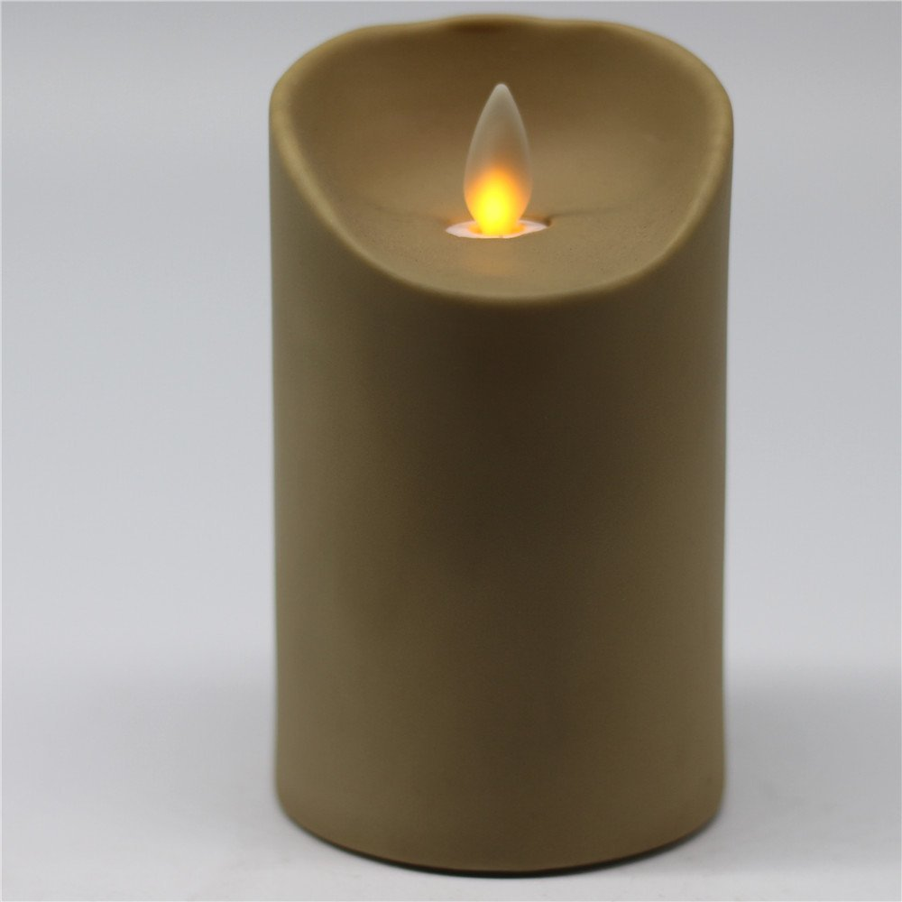 Christmas Decoration Led Moving Wick Flameless Flickering Led Candles with PVC
