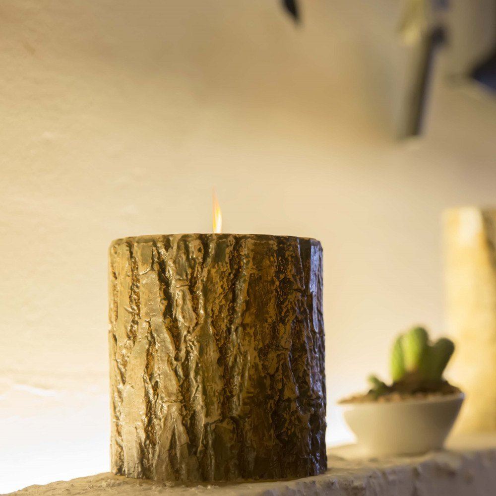 3.5 x 5inch Bark Flameless LED Candles with Remote Control +5 Hour TIME