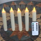 7 Inch Flameless Wax Ivory Taper Candles Vigil the with the LED 10 the Remote Keys .5 PACK