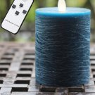 "Blue Water Ripple 3.2""*5'' LED Moving Wick Wax Candle Remote Control"