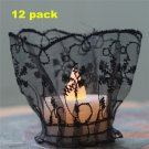 DIY Handmade Embroidery Fake Flameless Tealights 12pack