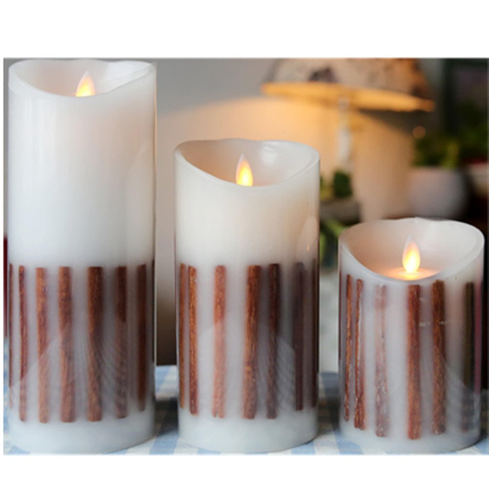 Holiday Decorations Moving Wick Led Candle with Remote Control