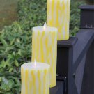Set of 3 Home Decorations Moving Wick Flameless Led Candle with Timer and Remote Control