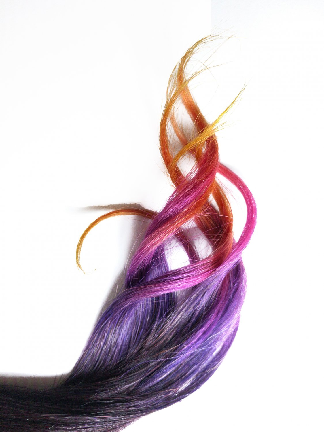 "18"" Dragon Breath 100% Human Hair Ombre Clip in Extensions"