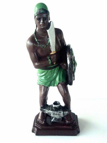 Statue Orisha Ogun Yoruba Santeria Estatua Lucumi African God Figure