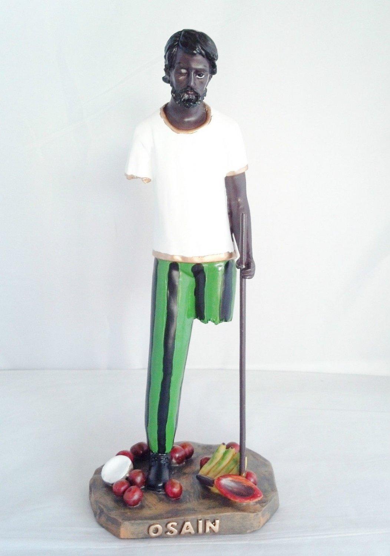 12 Inch Orisha Osain Statue Santeria Lucumi Yoruba Saint Santo African God