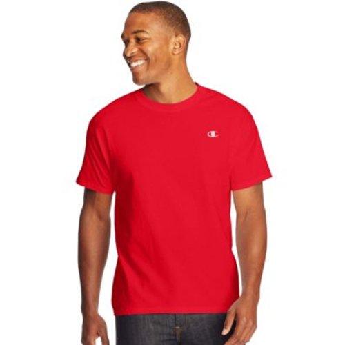 Champion Cotton Jersey Men's T Shirt - Crimson, 2XL, HBI_CT2226