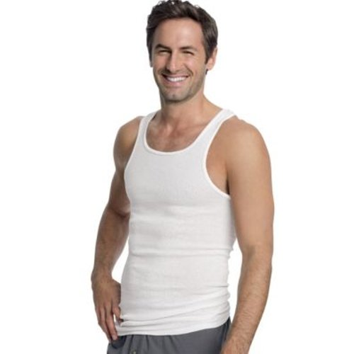 Hanes Men's White A-Shirt 3-Pack, Large Style: WL372