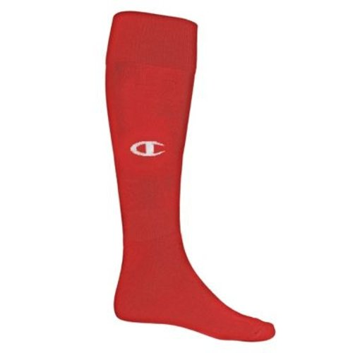 Hanes Mens Over-The-Calf Sports Sock  Scarlet/White M-L, HBI_ROTCS