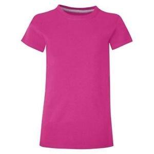 Girls Cotton Essential Short-Sleeve Tee Shirt in Jewel Tones, All Seasons KK010