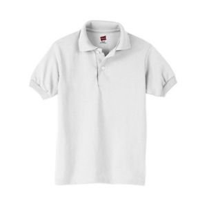 Hanes Kids' Everyday Cotton-Blend EcoSmart Jersey Polo Short-Sleeve Style:054Y