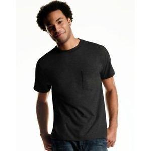 Hanes 100% Cotton Men's ComfortSoft TAGLESS Pocket Undershirt 4-Pack Style: 2176