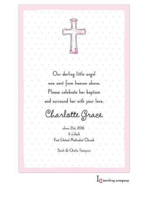 Cross Invitations Pink (20 per pack)