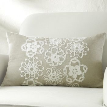Fashionably Fawn Ornate Oblong Pillow