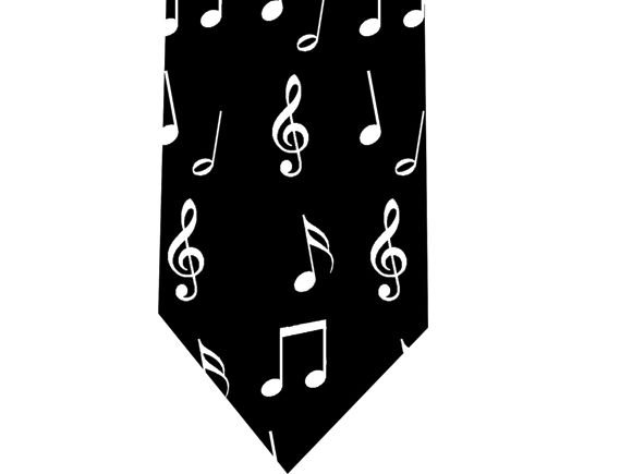 Musical Notes Tie - Model 2