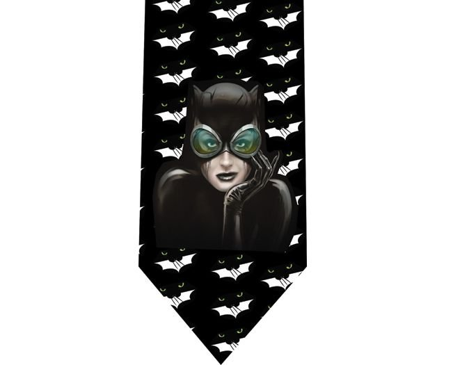 Catwoman Tie - Model 2 - Batman
