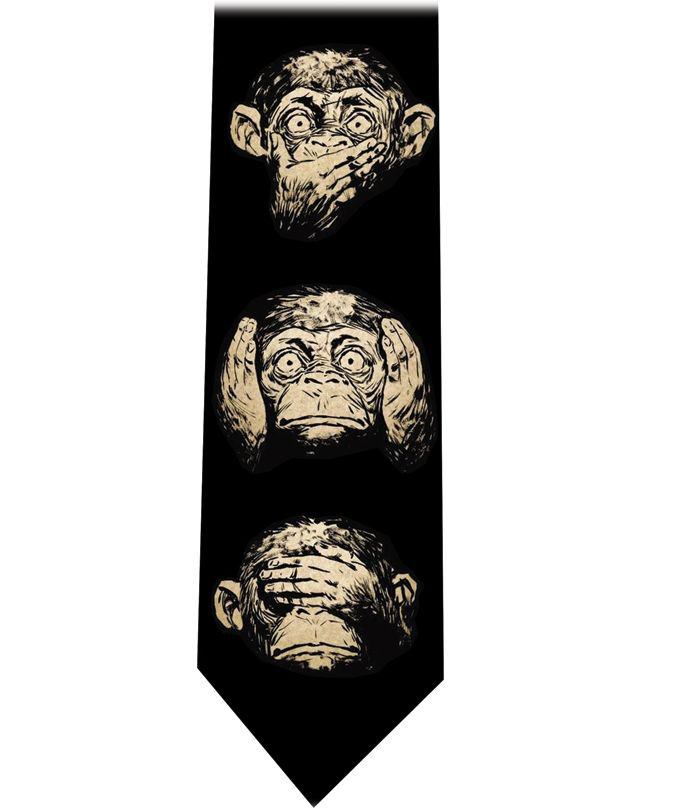 Monkeys Faces Tie