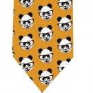 Pandas & glasses Tie