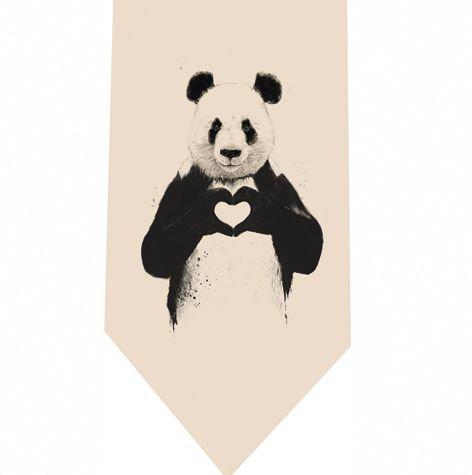 Pandas Heart Tie