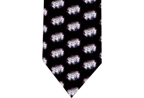 Jesus graffiti Tie - Christians