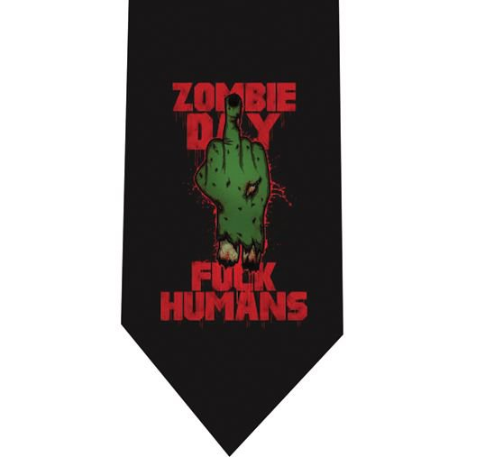 Zombie Day Tie - Model 1 Black