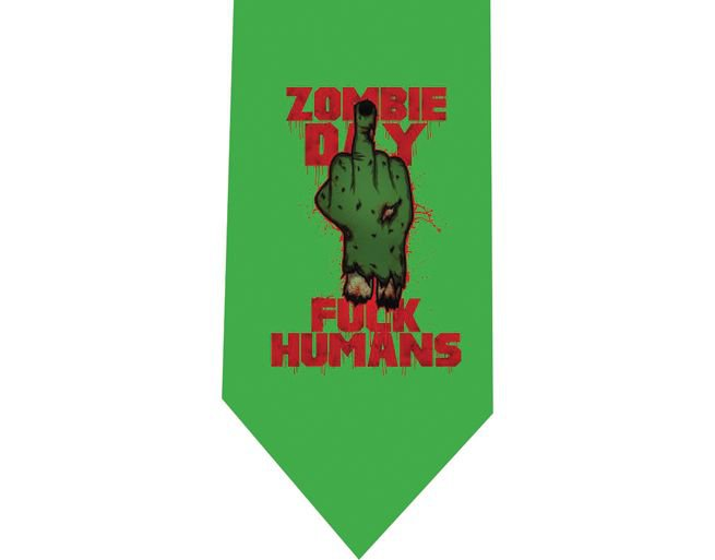 Zombie Day Tie - Model 2 Green