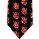Hand in Fire Tie